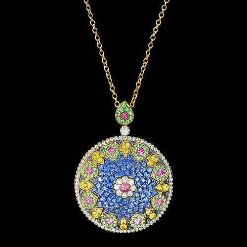 Florence Multi Sapphire Necklace
