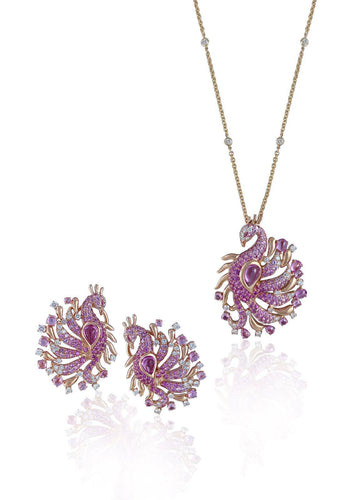 Florence Peacock Necklace Set