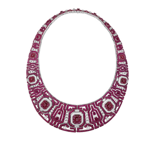 Ruby Studded Necklace