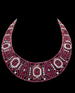 Dazzling Diamond & Ruby Studded Florence Necklace