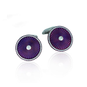 Purple Diamond Cufflinks