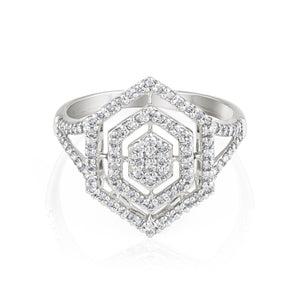 Weave Diamond Ring