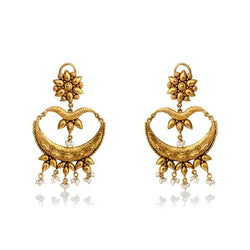 Ethnic Gold Chandbali.