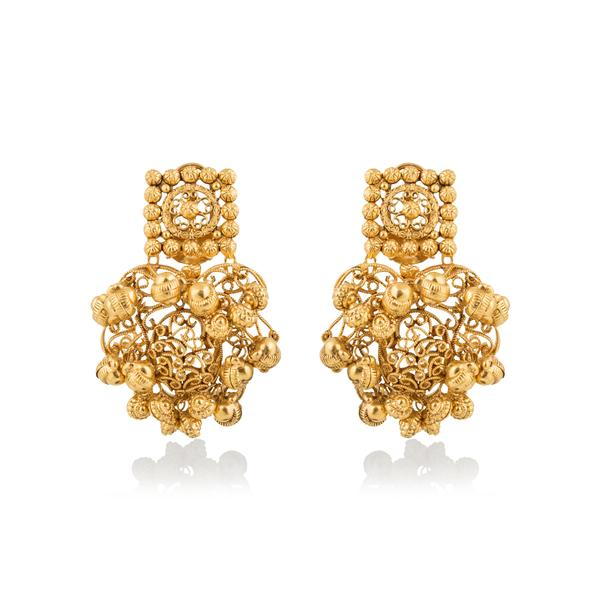 Gold ball studs Earring In Yellow Gold.