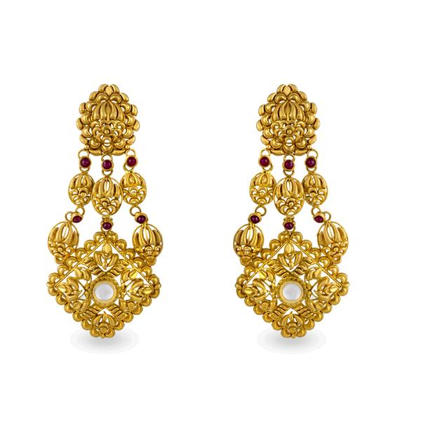 Enchanting Danglers In Yellow Gold.