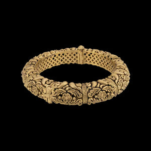 Classic Floral Gold Bangle