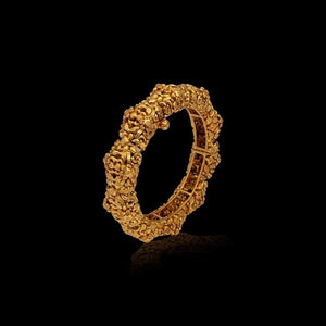 Mountain Range Gold Bangle
