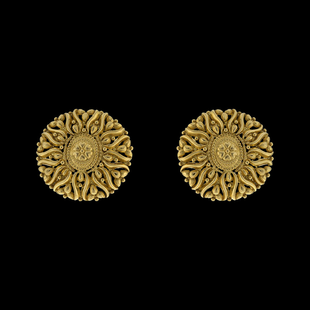 Classic Gold Round Earrings
