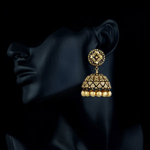 Classsic Gold Traditional Jhumkas
