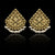 Triangular Gold Studs