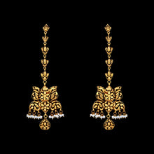 Classic Gold Earrings with Ear Chain