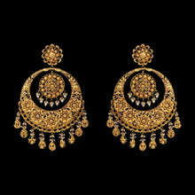 Gold Big Chandbali with Pearls