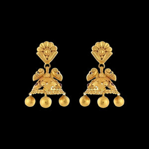 Earrings In Yellow Gold.