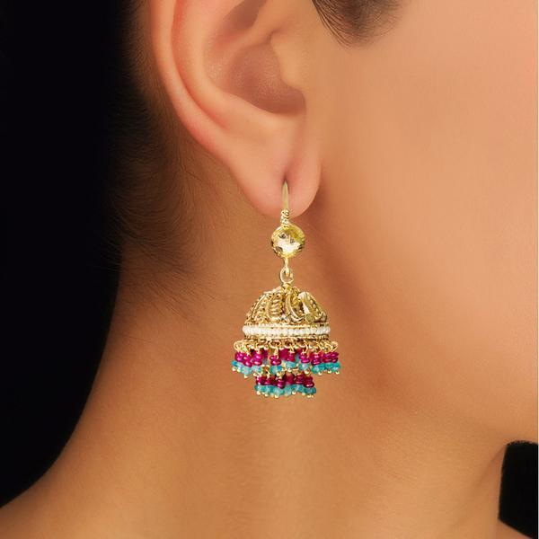 Traditional Multicoloured Jhumkas.