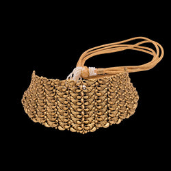Trendy Filigree Choker In Yellow Gold