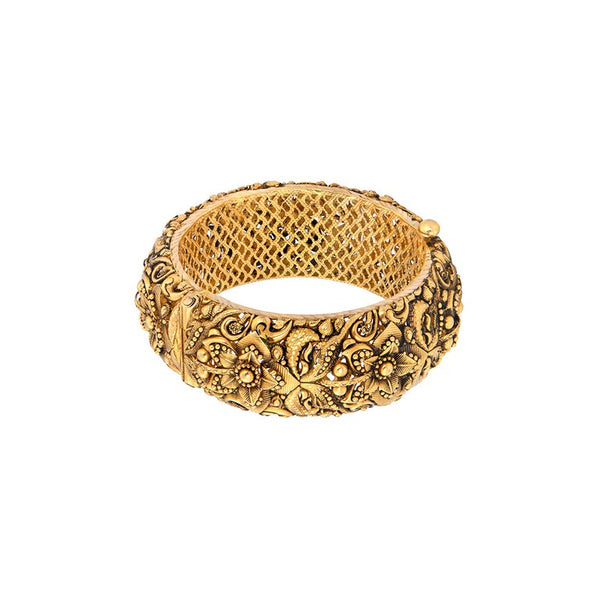 Gold Flower Bangle
