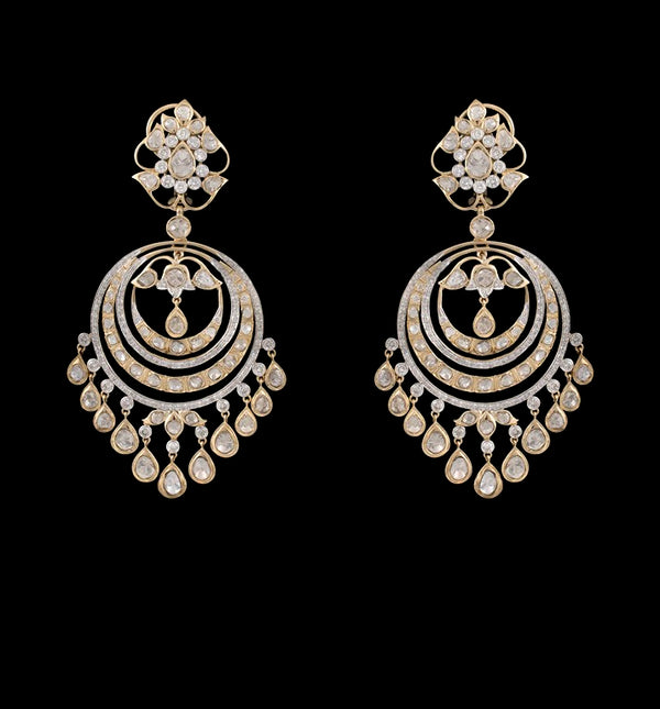 Nuvo polki Chandbali With Diamond Studded