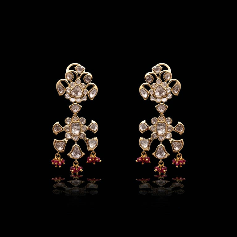 Nuvo Polki & Ruby Studded Earring Pair