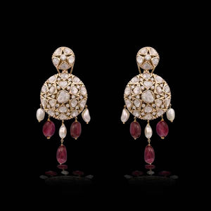 Nuvo Polki Traditional Earring Pair