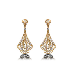 Nuvo Polki Studded Net Design Earring Pair