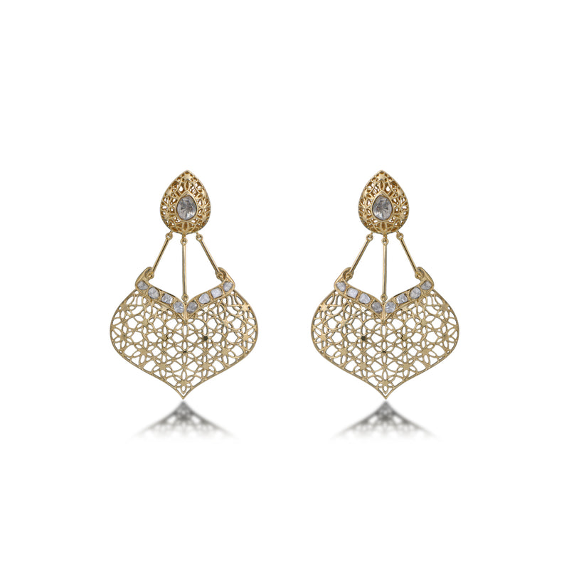 Nuvo Polki New Net Design Earring.