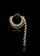Traditional Nose Pin Studded With Polki & Pearls