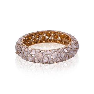 Brilliant Diamond And Polki Studded Bangle