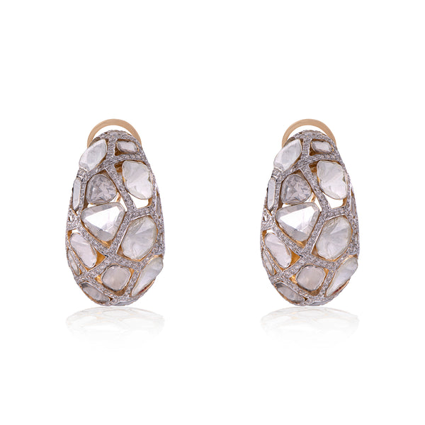 Elegant Polki Diamond Earring