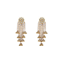 Nuvo Polki Earrings With Pearls