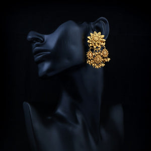 Classic Gold Floral Earrings
