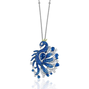 Florence Peacock Necklace