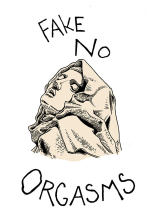 fake no orgasms sticker