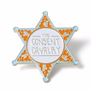 Isabella Rotman The Consent Cavalry Enamel Pin | Nikki Darling Australia