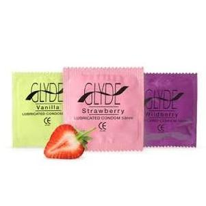 condoms assorted flavours 53mm (10 pack)