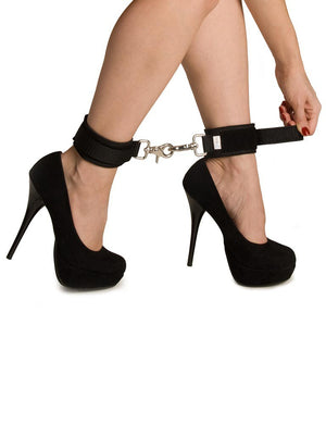 Kinklab Neoprene Cuffs - Black on ankles | Nikki Darling Australia