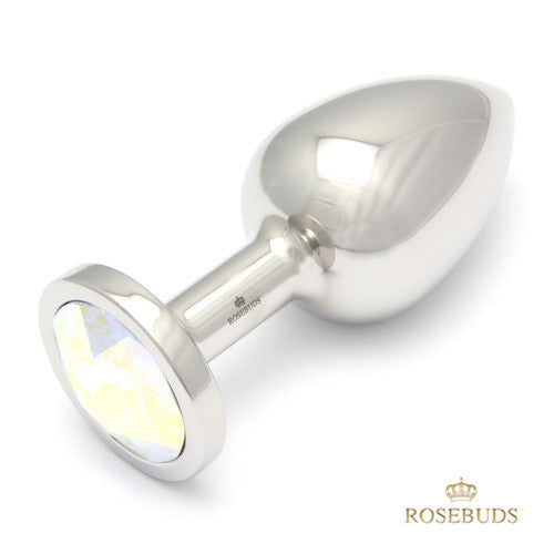 rosebuds: swarovski & stainless steel butt plug (medium) anal plugs | nikki darling australia