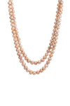 Rose Gold Double Strand Baroque Pearl Necklace 18' and 22'