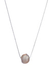 Single Baroque Pearl Necklace on Sterling Silver Chain