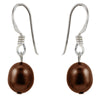 brown slider earrings