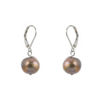 Single Baroque with Sterling Silver and Leverback Hook Gold Earring