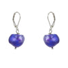 Single Purple Baroque with Sterling Silver and Leverback hook Earring