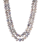 double strand grey necklace