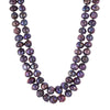 double strands purple necklace