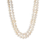 white double strands necklace