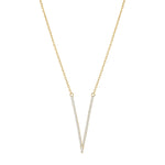 V Shaped Pendant Necklace