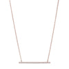 Rose Gold Plated Bar Necklace