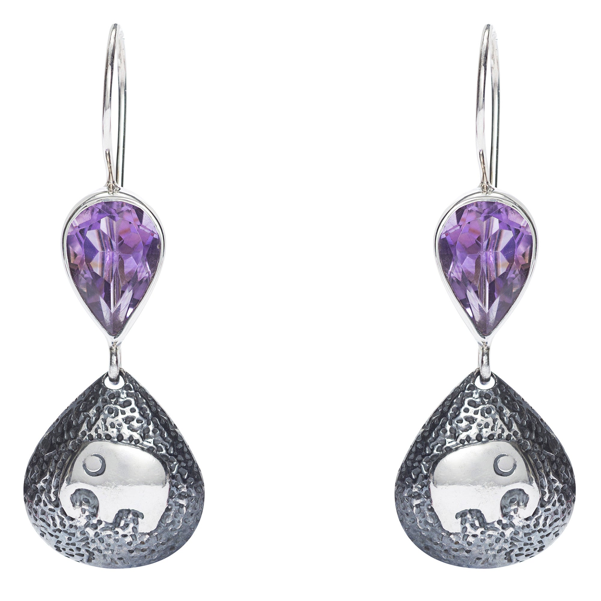amethyst stone products looping ribbon laura earrings leah