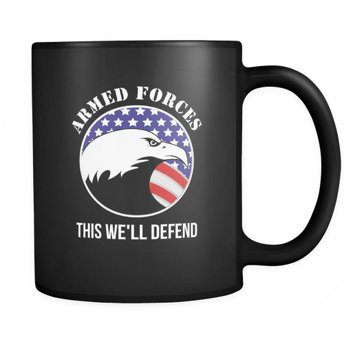 Armed Forces 11 oz. Mug. Armed Forces funny gift idea.