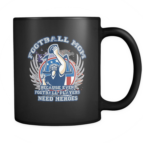Football Mom 11 oz. Mug. Football Mom funny gift idea.
