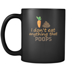 Funny Vegan Quotes 11 oz. Mug. Funny Vegan Quotes funny gift idea.